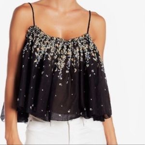 NWT Intimately Free People Black Floral Tank Top